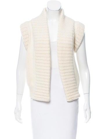 Balenciaga Cashmere Short Sleeve Cardigan None