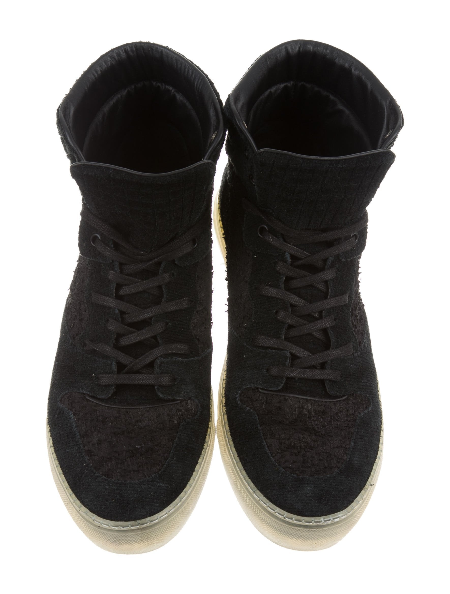 Balenciaga Textured Suede Sneakers - Shoes - BAL55264 | The RealReal