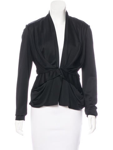 Balenciaga Silk-Blend Draped Jacket None