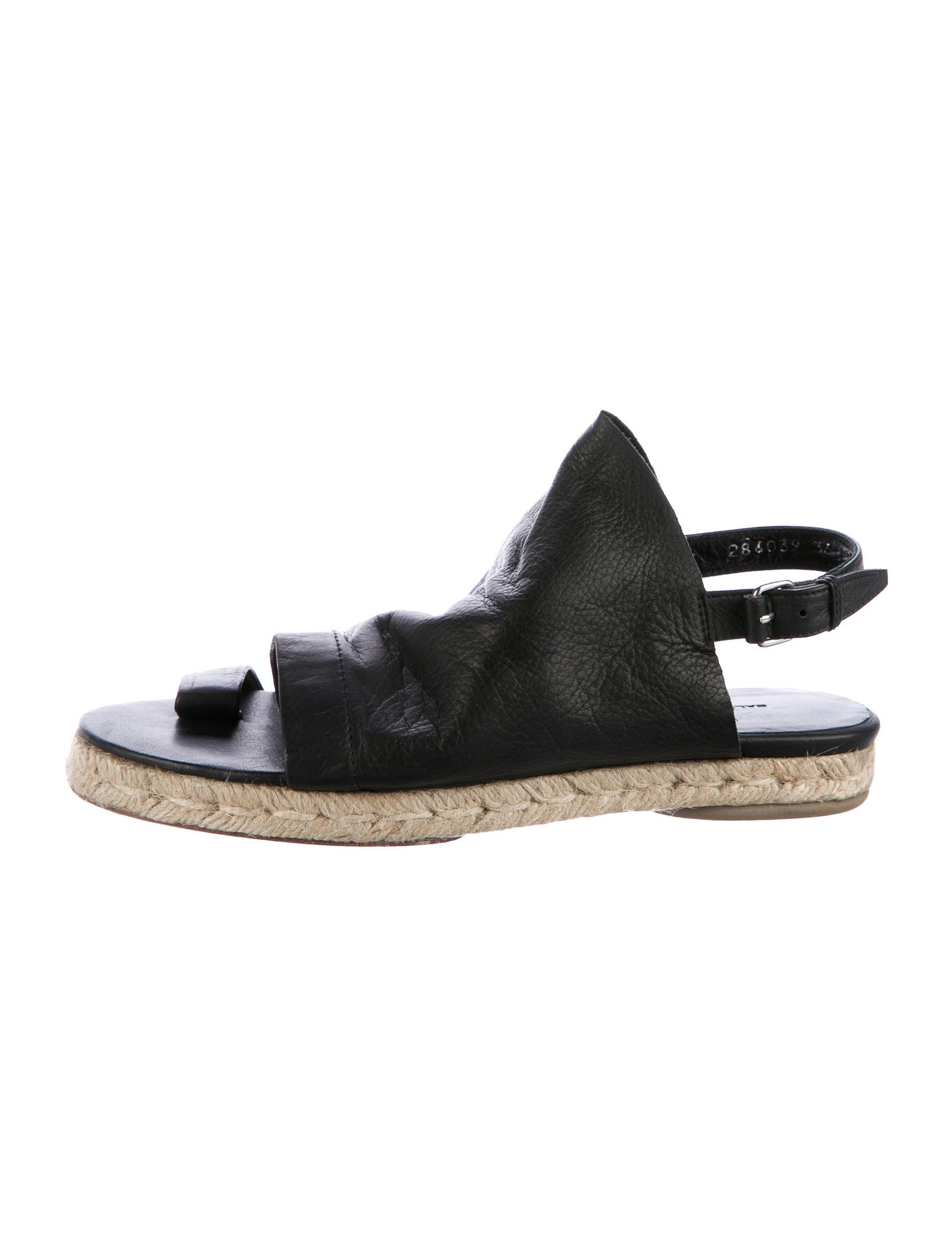 best sale cheap price best sale sale online Balenciaga Jute-Accented Suede Wedge Sandals bFMnbSaN