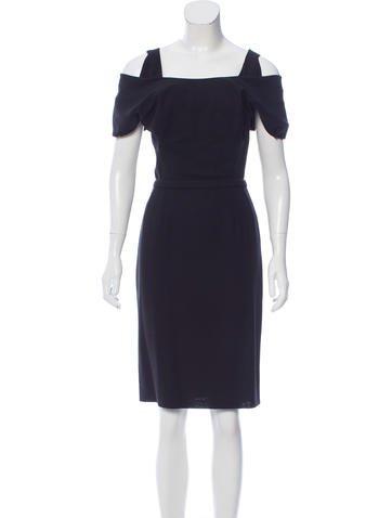 Balenciaga Knee-Length Wool Dress None