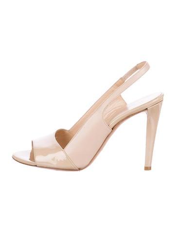 Balenciaga Patent Leather Slingback Sandals None