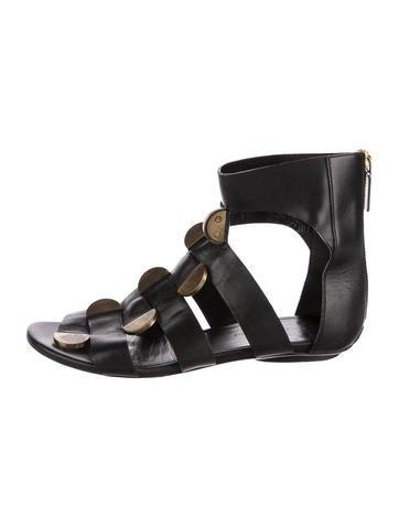 Balenciaga Leather Caged Sandals None