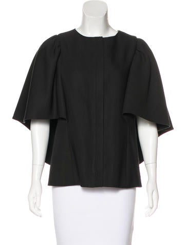 Balenciaga Virgin Wool & Silk-Blend Top None