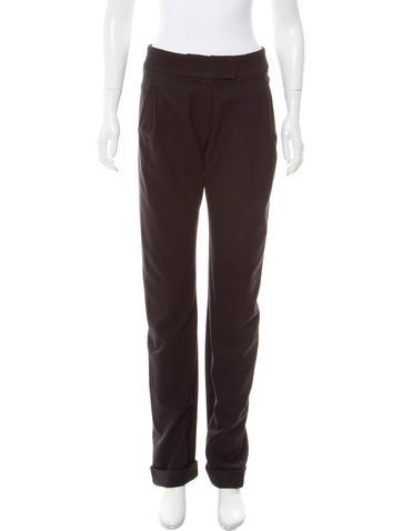 Balenciaga Mid-Rise Wool Pants None