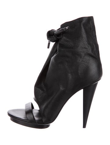 Balenciaga Leather Cutout Sandals None