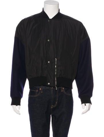 Balenciaga Wool-Trimmed Bomber Jacket None