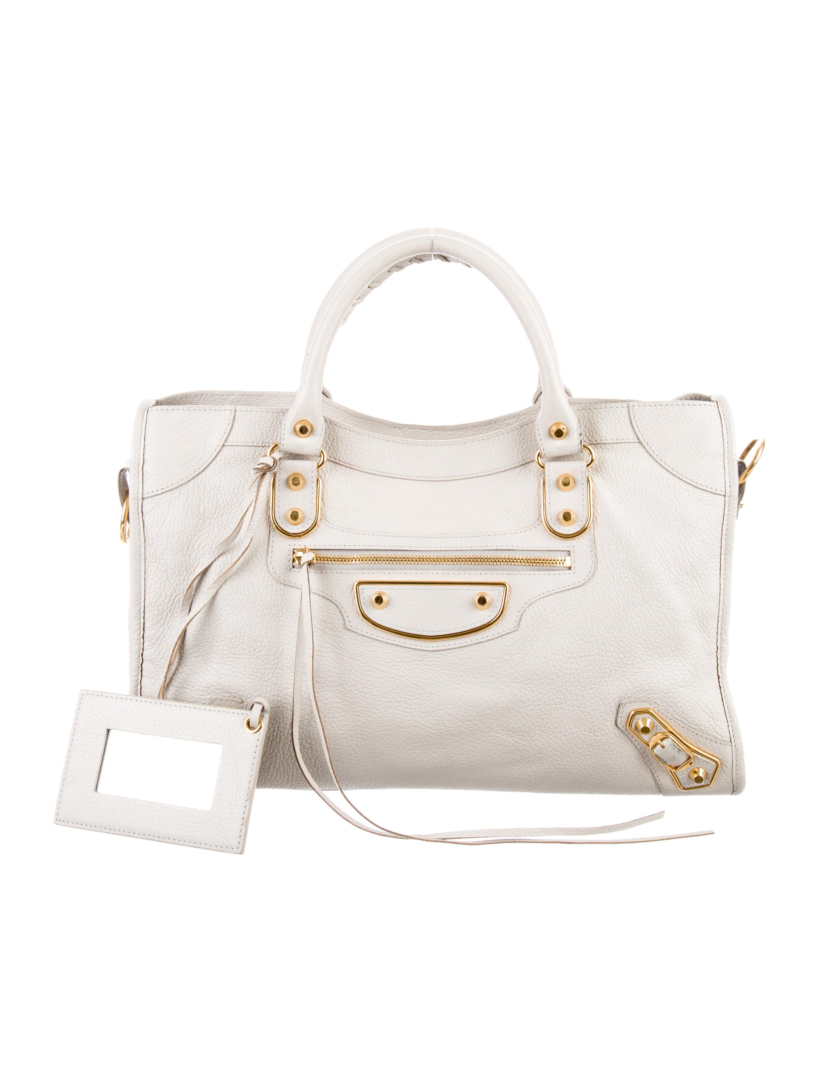 05f0e513f9 Balenciaga Metallic Edge City Bag - Handbags - BAL56134 | The RealReal