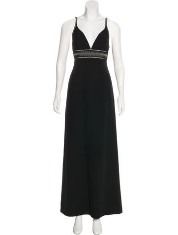 Balenciaga Sleeveless Knit Gown None