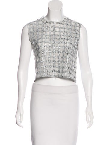 Balenciaga Sleeveless Jacquard Top None