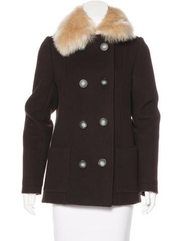 Balenciaga Fur-Trimmed Wool Jacket None