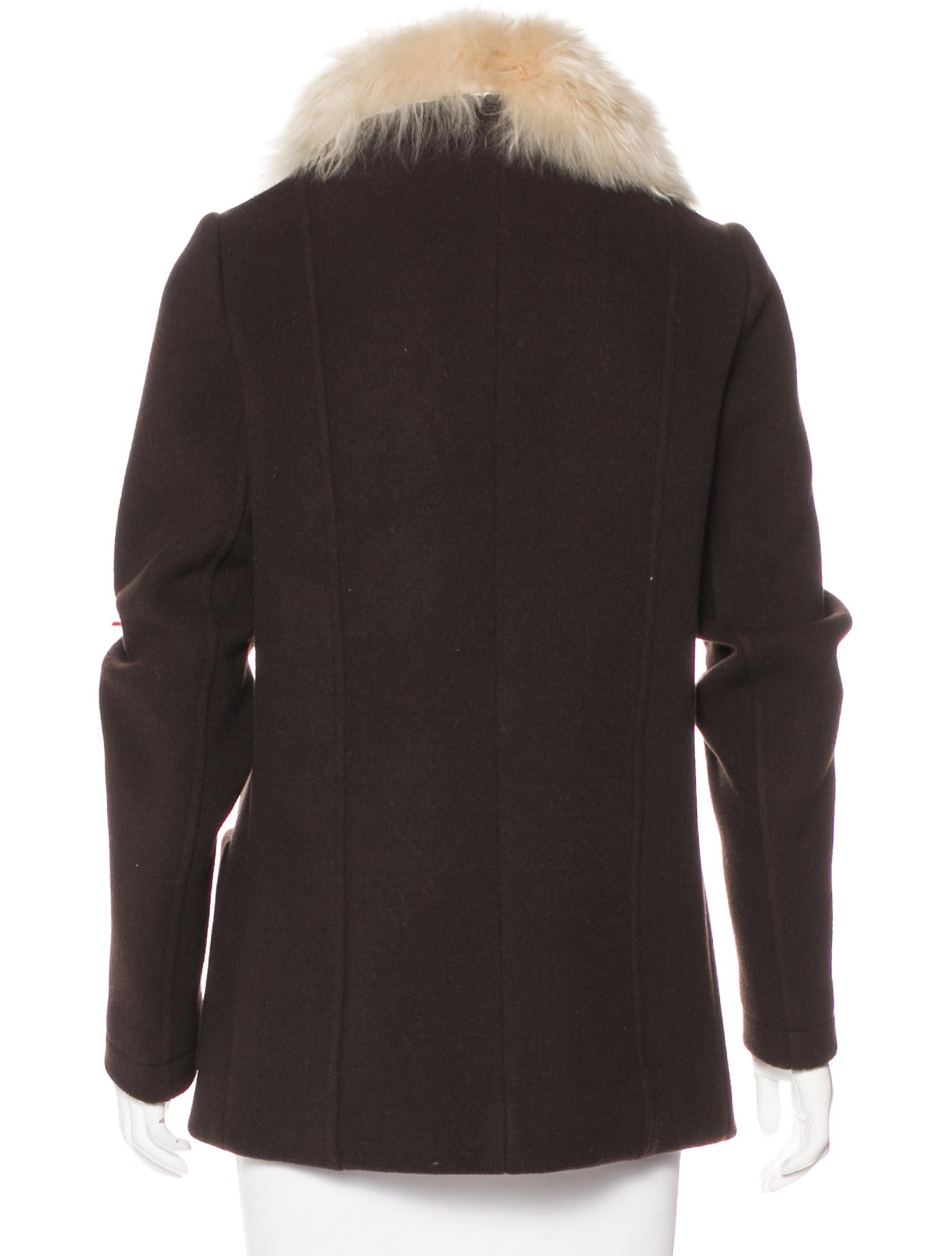 Balenciaga Fur Trimmed Wool Jacket Clothing Bal56394
