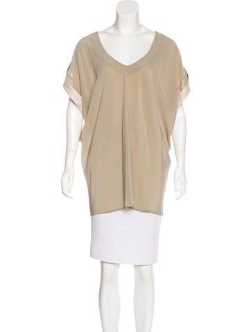 Balenciaga Silk Oversize Top None