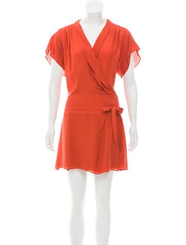 Balenciaga Silk Wrap Dress None