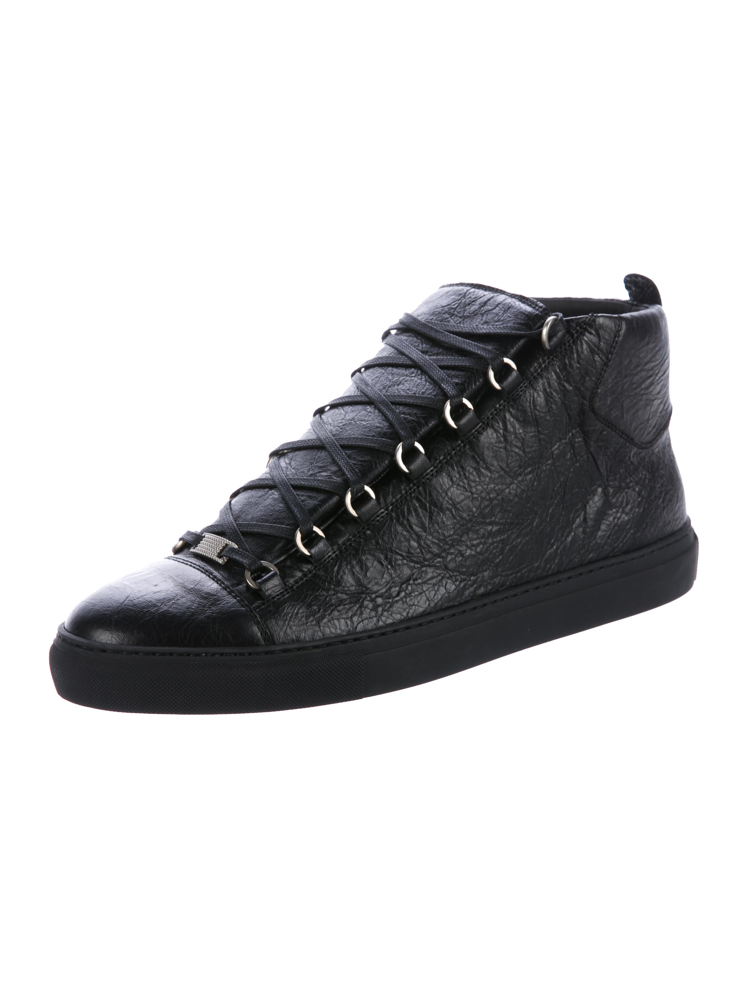 balenciaga arena leather sneakers w tags shoes bal57296 the realreal. Black Bedroom Furniture Sets. Home Design Ideas