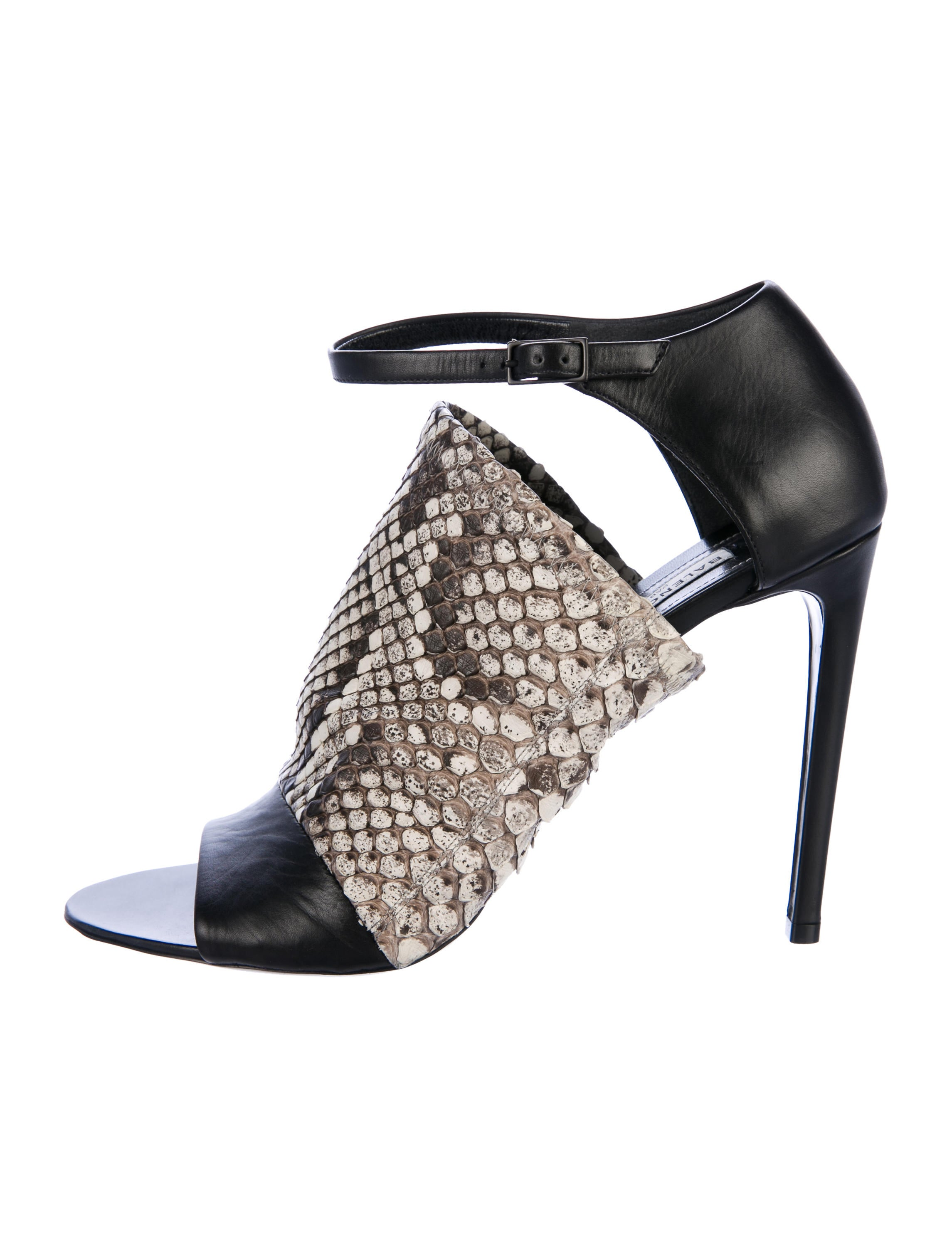 cheap reliable from china free shipping Balenciaga Snakeskin-Trimmed Glove Sandals cheap sale low shipping cheap price top quality LPG1Dbr