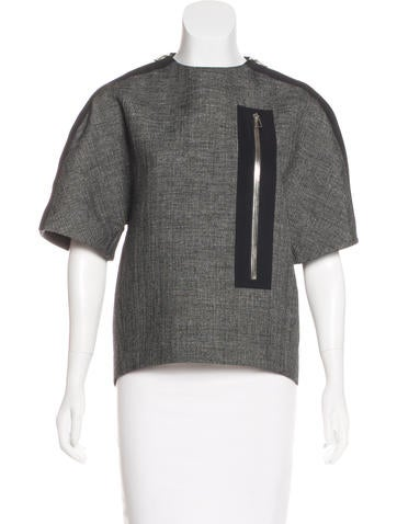 Balenciaga Structured Wool Top None