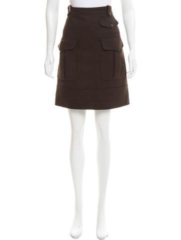 Balenciaga Wool Cargo Skirt None