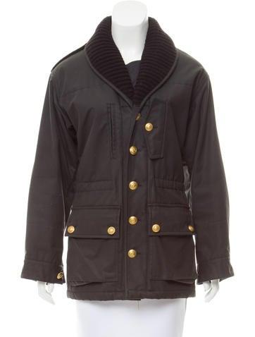 Balenciaga Wool-Trimmed Utility Jacket None
