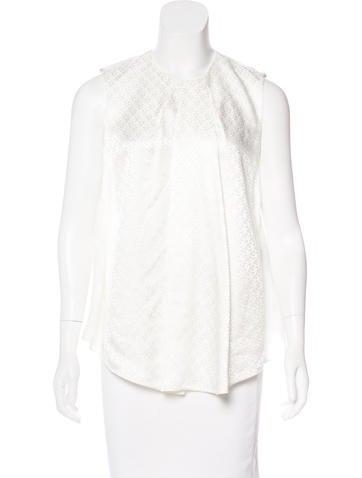 Balenciaga Jacquard Sleeveless Top None