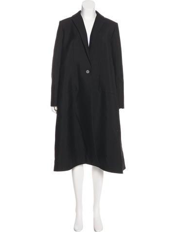 Balenciaga Wool & Mohair-Blend Coat None