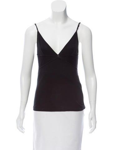 Balenciaga V-Neck Sleeveless Top None