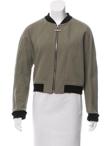 Balenciaga Textured Bomber Jacket None