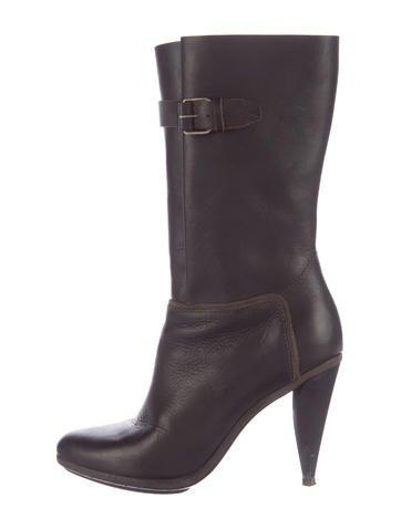 Balenciaga Leather Mid-Calf Boots None