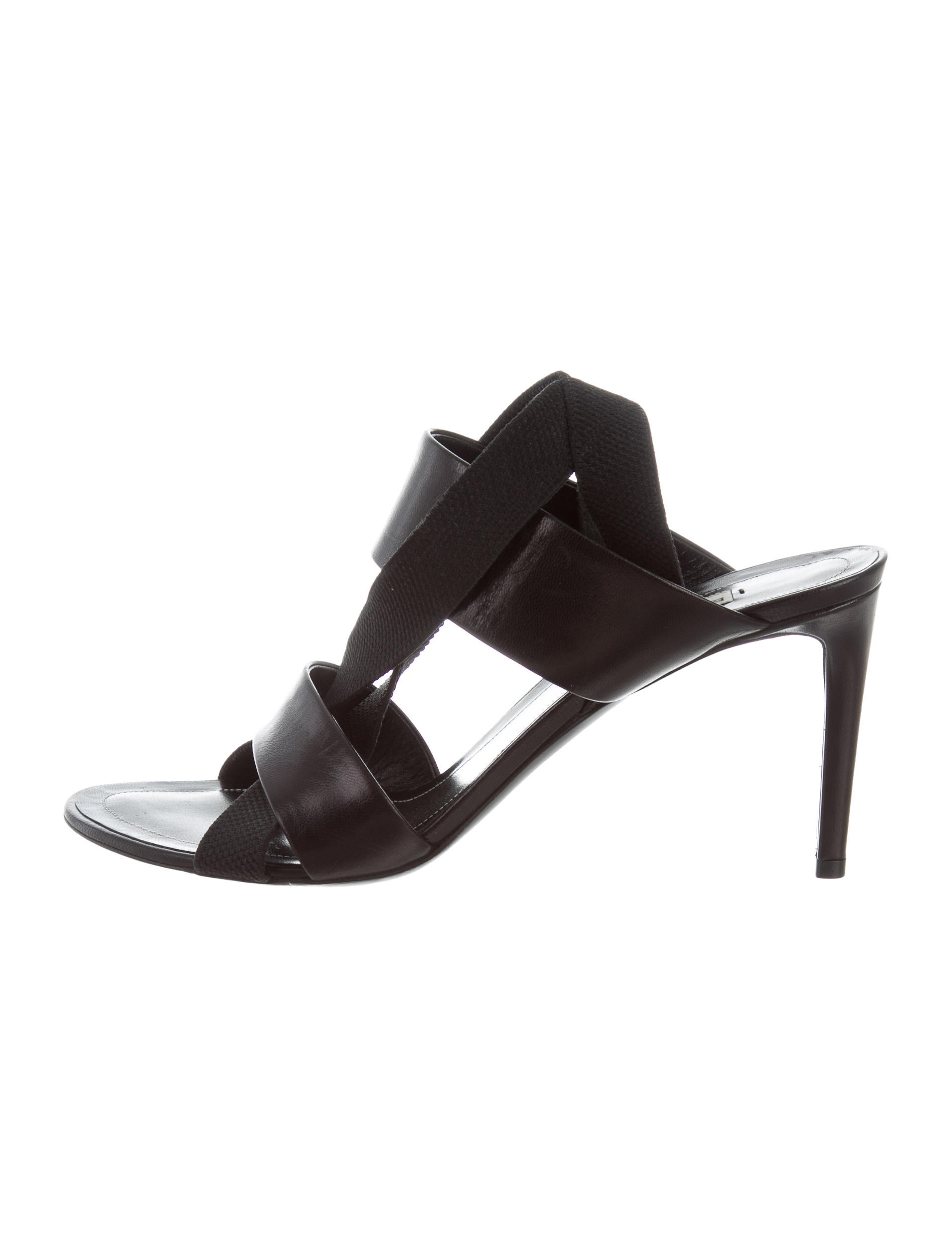 100% authentic online Balenciaga Leather Cross Strap Sandals best store to get cheap best prices cheap new arrival free shipping low price Ld195C5Tq
