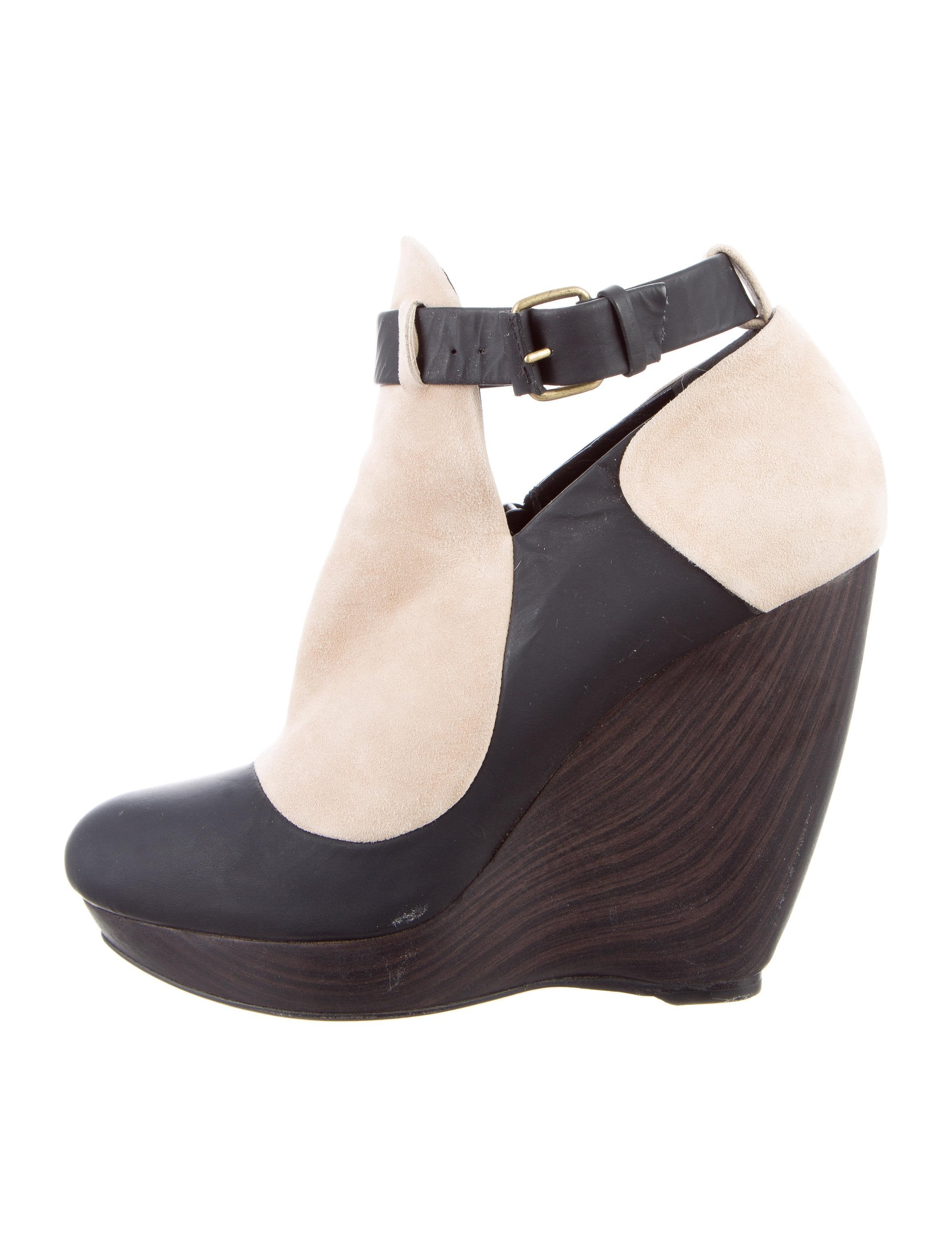Balenciaga Colorblock Wedge Booties