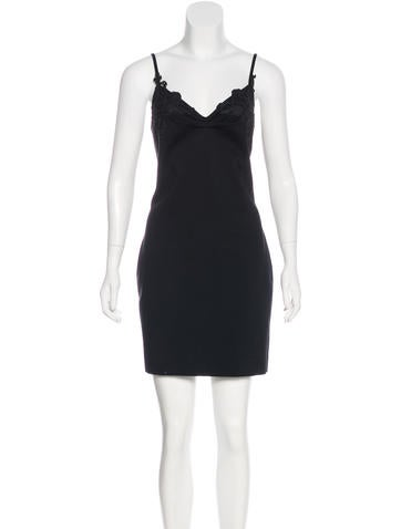 Balenciaga Lace-Trimmed Mini Dress w/ Tags None