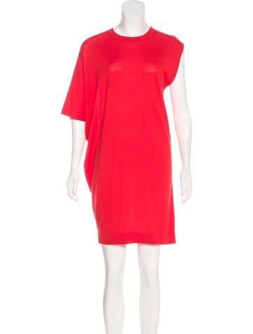 Balenciaga Mini Virgin Wool Dress None