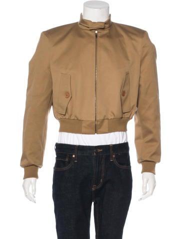 Balenciaga 2017 Cropped Bomber Jacket None