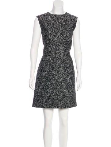 Balenciaga Matelassé Sheath Dress None