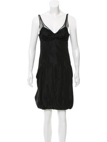 Balenciaga Sleeveless Bubble Dress None