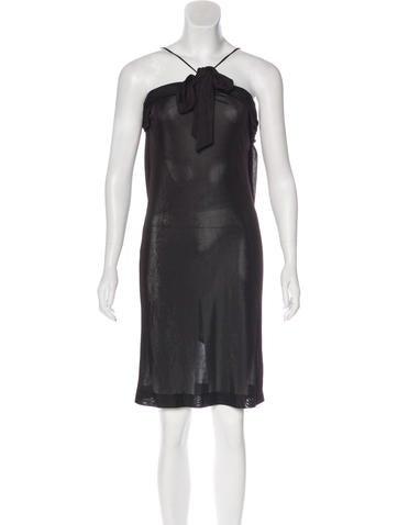 Balenciaga Sleeveless Draped Dress None