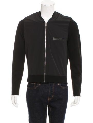 Balenciaga Leather-Accented Bomber Jacket None
