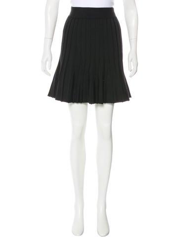 Balenciaga Wool Knit Skirt None