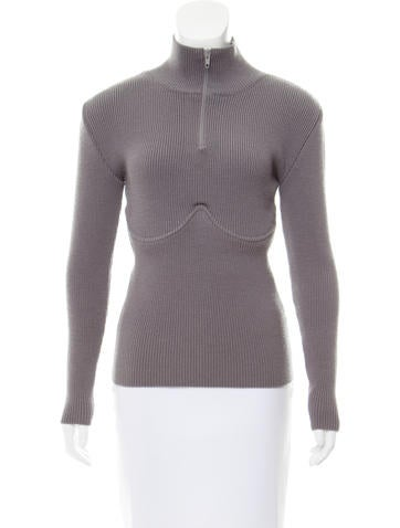 Balenciaga Structured Rib Knit Sweater None