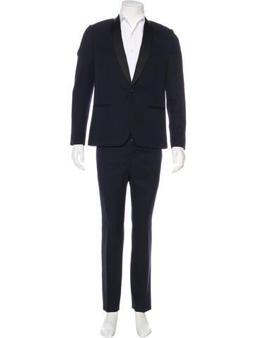 Balenciaga Wool Shawl Tuxedo None
