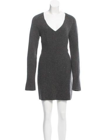 Balenciaga Wool-Blend Sweater Dress None