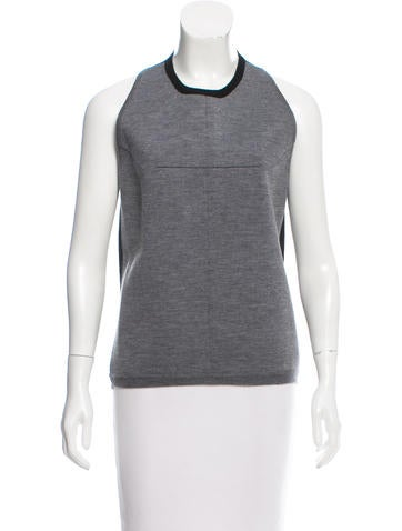 Balenciaga Two-Tone Sleeveless Top None