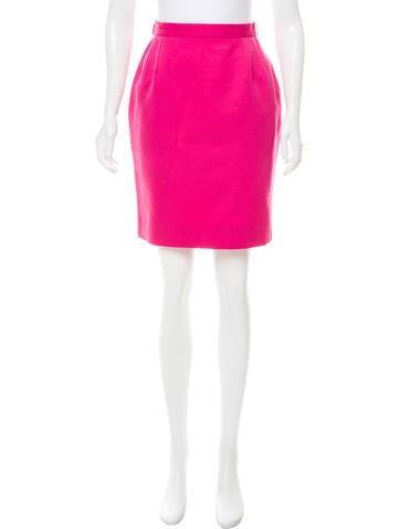 Balenciaga Knee-Length Wool Skirt None