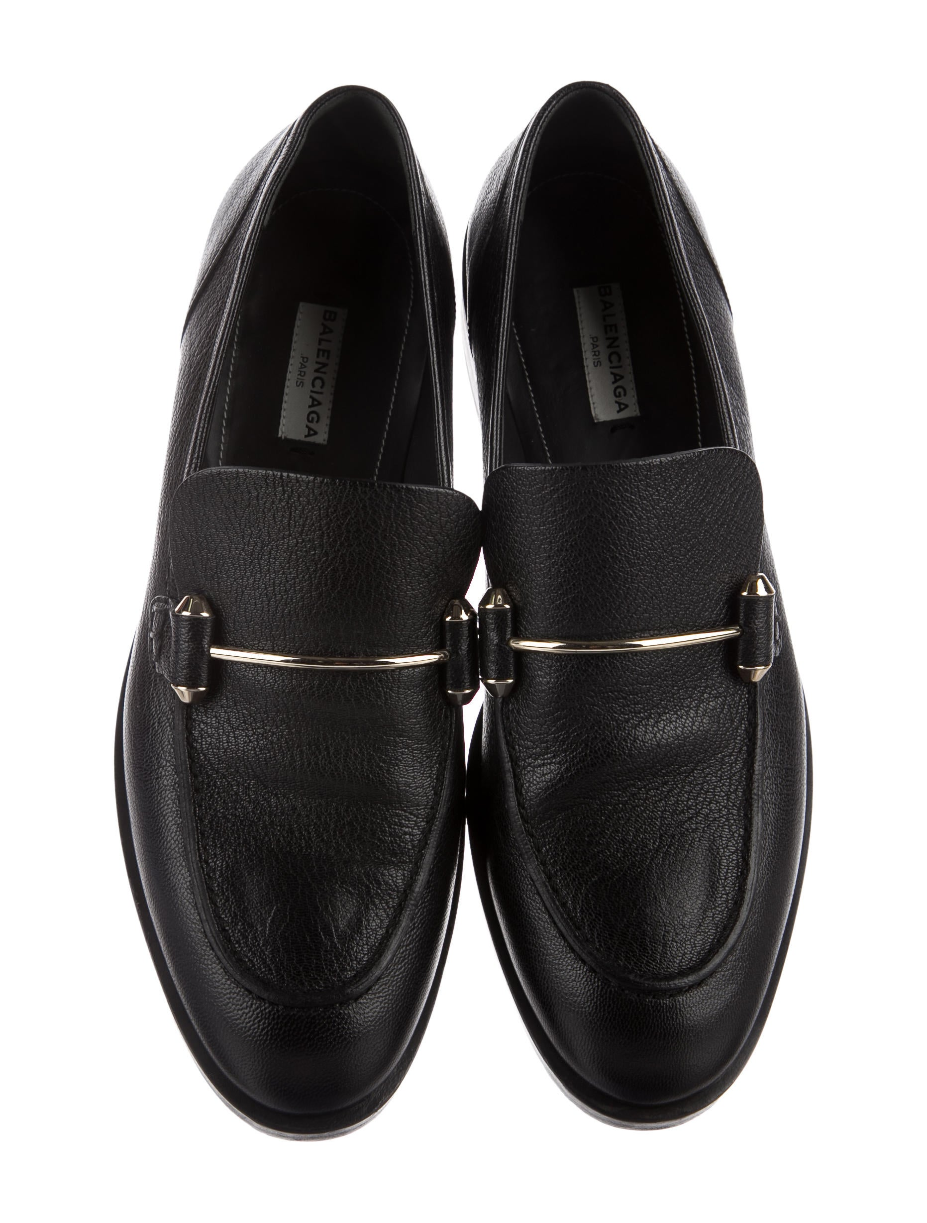 brand new unisex for sale shop offer sale online Balenciaga Round-Toe Leather Loafers many kinds of cheap price with mastercard sale online where to buy niAsJv1iT