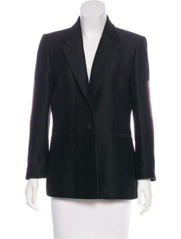 Balenciaga Wool Jacquard Blazer None