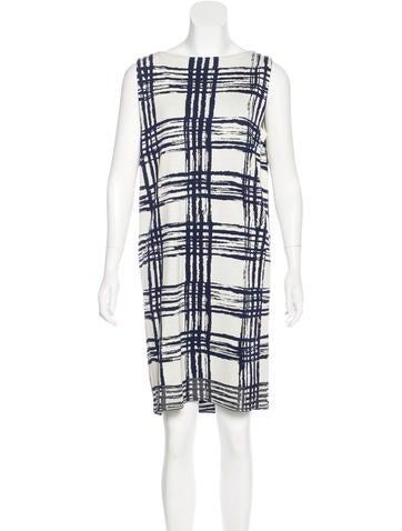 Balenciaga Sleeveless Silk Dress None