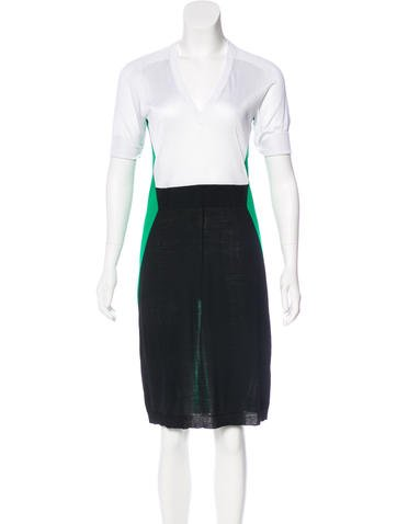 Balenciaga Wool Colorblock Dress None