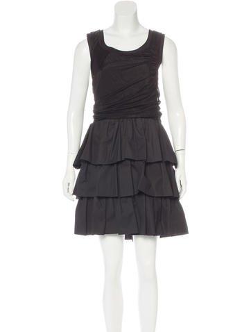 Balenciaga Ruffled Sleeveless Dress None