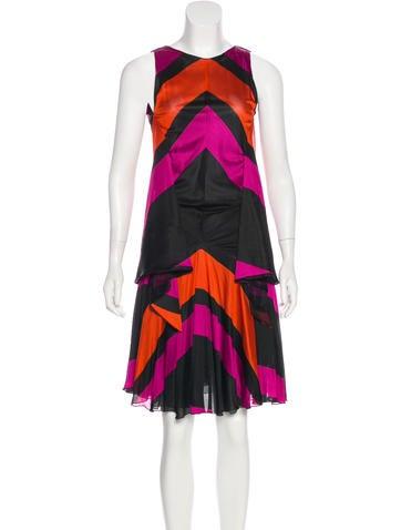 Balenciaga Sleeveless Midi Dress None