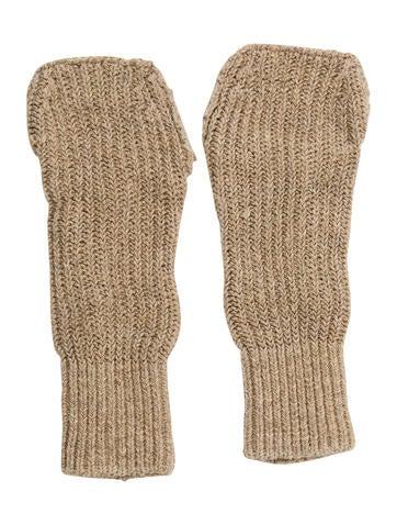 Balenciaga Rib Knit Fingerless Gloves None